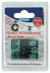 Set 3 benzi adezive decorative WASHI TAPE-verde
